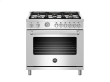 36 inch All Gas Range, 6 Brass Burners Stainless