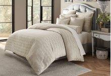 9 pc Queen Comforter Set Platinum