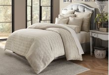 9 pc Queen Comforter Set Platinum