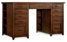 Home Office Wendover Utility Desk Complete (Two Drawer Pedestals)