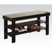 Black Bench W/shoe Rack Product Image