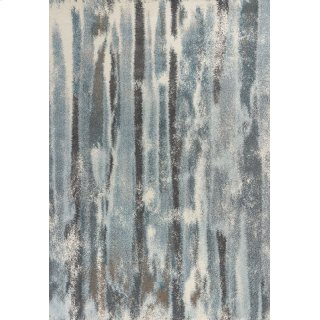 "Illusions 6211 Teal Moderne 5'3"" X 7'7"""