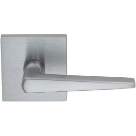 Interior Modern Lever Latchset with Square Rose in (US26D Satin Chrome Plated)