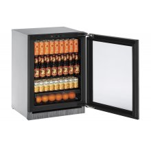 Modular 3000 Series 60 Cm Glass Door Refrigerator With Integrated Frame Finish and Field Reversible Door Swing (220-240 Volts / 50 Hz)