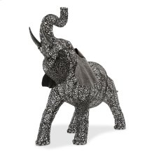 Large Elephant Aluminum Scroll Design