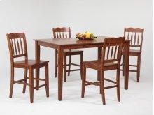 Rectangular Pub Table with Mission Leg