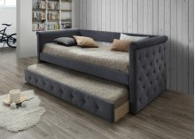 Gabriel Gray Tufted Upholstered Daybed with Trundle