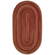 Homecoming Rosewood Red Braided Rugs (Custom)