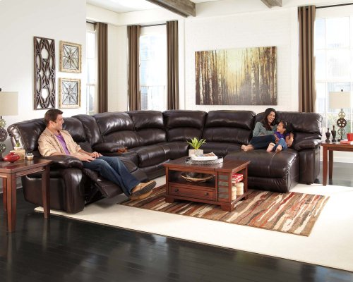 Damacio - Dark Brown 6 Piece Sectional