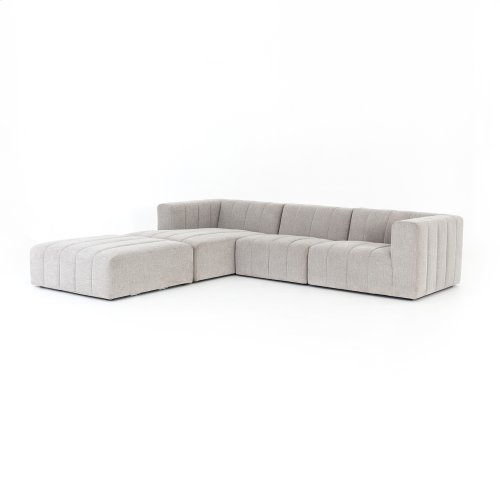 Left Arm Facing Configuration Langham Channeled 3-pc Sectional W/ Ottoman