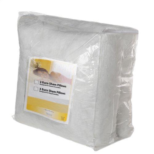 SleepSense 26-Inch Euro Stuffer Bed Pillow Insert, 3-Pack