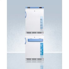 Stacked Combination of Ff7lbimed2 Auto Defrost All-refrigerator and Vt65mlbimed2 Manual Defrost -25 c All-freezer, Both With Locks, Digital Controls, and Nist Calibrated Alarm/thermometers