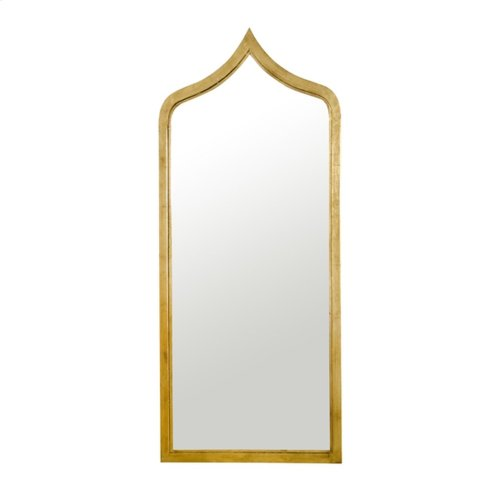 Moroccan Style Gold Leaf Iron Mirror.