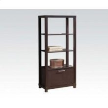 Bookcase W/3 Shelves , Door