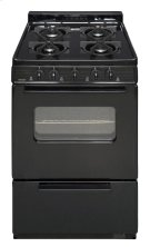 24 in. Freestanding Battery-Generated Spark Ignition Gas Range in Black Product Image