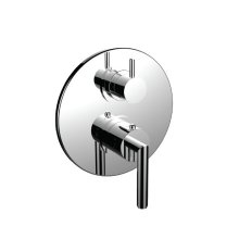 """7098fo-tm - 1/2"""" Thermostatic Trim With 3-way Diverter Trim (shared Function) in Polished Chrome"""