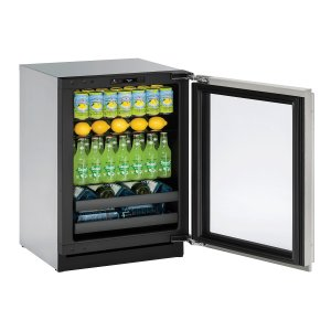 "U-LineModular 3000 Series 24"" Beverage Center With Stainless Frame (lock) Finish and Left-hand Hinged Door Swing (115 Volts / 60 Hz)"