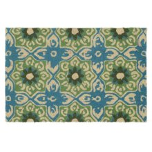 Doormat Mabel Teal/Green 24x36
