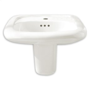 Murro Universal Design EverClean Wall Mounted Sink - White