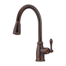 Rustic Bronze 1-Handle Pull-Down Kitchen Faucet