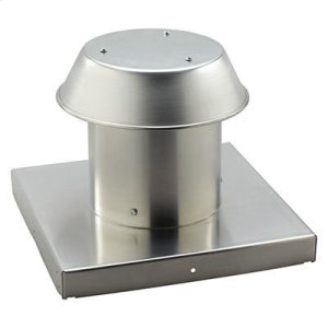"""BroanRoof Cap, For Flat Roof, Aluminum, Up to 12"""" Round Duct"""