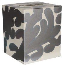 Kleenex Box Silver and Cream PATTERN.