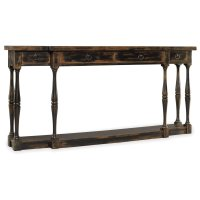 Living Room Sanctuary Four-Drawer Thin Console - Ebony Product Image
