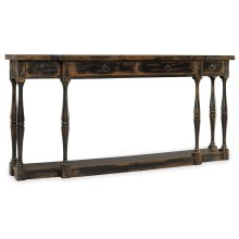 Living Room Sanctuary Four-Drawer Thin Console - Ebony