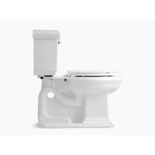 Ice Grey Comfort Height Two-piece Elongated 1.28 Gpf Toilet With Aquapiston Flushing Technology and Left-hand Trip Lever, Seat Not Included