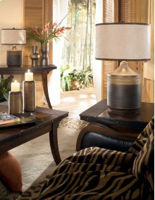 Ceramic Table Lamp (2/CN) Karissa - Brown Collection Ashley at Aztec Distribution Center Houston Texas