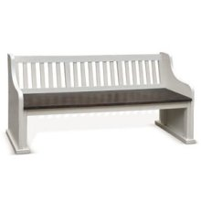 Carriage House Bench w/ Back Wood Seat