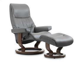 Stressless View Medium Classic Base Chair and Ottoman
