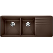 Blanco Precis Multilevel 1-3/4 Bowl With Drainer - Café Brown