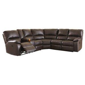 Ashley Furniture Warstein - Chocolate 3 Piece Sectional