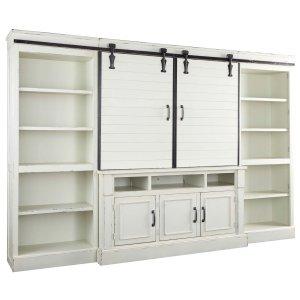 Ashley Furniture Blinton - White 4 Piece Entertainment Set