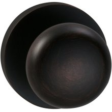 Interior Traditional Knob Latchset with Modern Round Rose in (TB Tuscan Bronze, Lacquered)