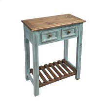 Console - Distressed Turquoise Finish