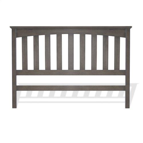 Hampton Wood Headboard Panel with Straight Spindles, Beachwood Gray Finish, King / California King