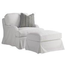 Stowe Swivel Slipcover Chair - White