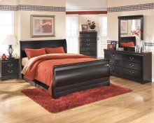 Huey Vineyard - Black 7 Piece Bedroom Set