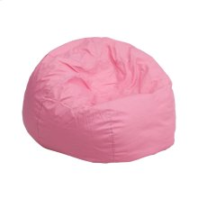 Small Solid Light Pink Kids Bean Bag Chair