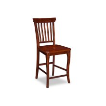 Venetian Pub Chairs Set of 2 with Wood Seat in Walnut