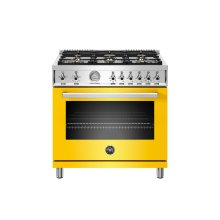 36 inch All Gas Range, 6 Brass Burners Giallo
