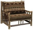 Hickory Log Frame Chair-and-a-Half - Standrard Fabric - Includes Fabric and Cushions Product Image