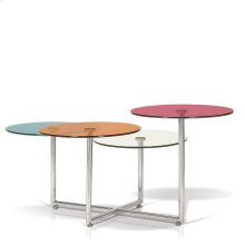 4-Tiered, Multi-Coloured Glass Top Coffee Table