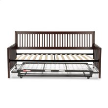 Mission Complete Wood Daybed with Euro Top Deck and Trundle Bed Pop-Up Frame, Espresso Finish, Twin