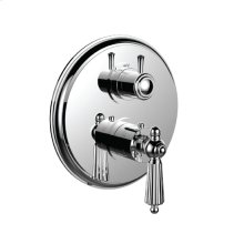 "7098ll-tm - 1/2"" Thermostatic Trim With 3-way Diverter Trim (shared Function) in Polished Chrome"