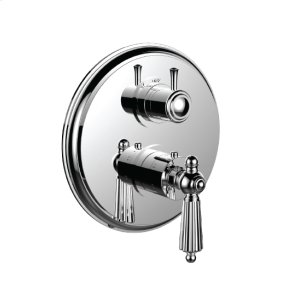 """7098ll-tm - 1/2"""" Thermostatic Trim With 3-way Diverter Trim (shared Function) in Antique Brass"""