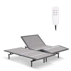 Fashion Bed Group Pro-Motion 2.0 Low-Profile Adjustable Bed Base With Simultaneous Movement And Microhook Technology, Charcoal Gray Finish, Split King