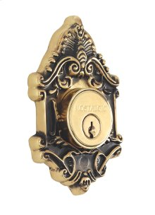 Nostalgic - Double Cylinder Deadbolt Keyed Alike - Victorian in Antique Brass